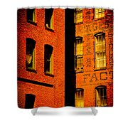 Brick And Glass Shower Curtain