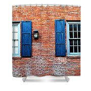 Brick And Shutters Shower Curtain