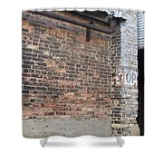 Brick Building Stop Shower Curtain