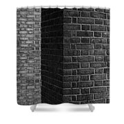 Brick Columns Abstract Shower Curtain