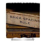Brick Mason's Rule Shower Curtain by Wilma  Birdwell