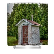 Brick Outhouse Shower Curtain