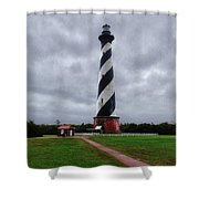 Brick Pathway To The Lighthouse Shower Curtain
