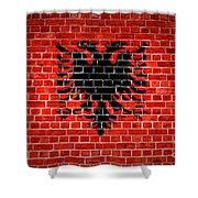 Brick Wall Albania Shower Curtain