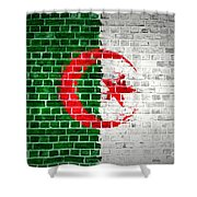 Brick Wall Algeria Shower Curtain