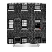 Brick Wall And Windows Shower Curtain