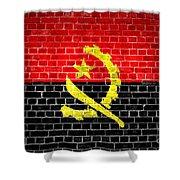 Brick Wall Angola Shower Curtain