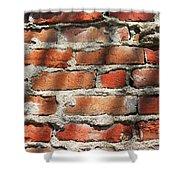 Brick Wall Shadows Shower Curtain