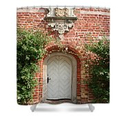 Brickcastle And White Door Shower Curtain