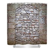 Bricked Up Doorway Shower Curtain