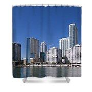 Brickell Skyline Shower Curtain