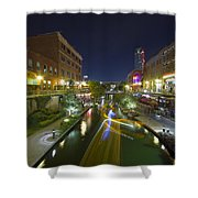 Bricktown Canal Water Taxi Shower Curtain