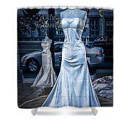Bridal Dress Window Display In Ottawa Ontario Shower Curtain