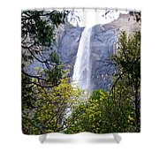 Bridal Veil Falls In Yosemite Valley In Spring- 2013 Shower Curtain