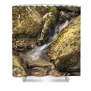 Bridal Veil Stream And Mossy Rocks - Heber Springs Arkansas Shower Curtain