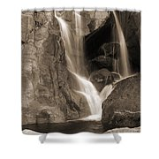 Bridalveil Falls In Yosemite Sepia Version Shower Curtain