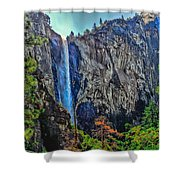 Bridalveil Falls In Yosemite Valley Shower Curtain