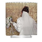 Bride At The Wall Shower Curtain