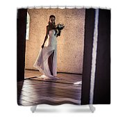 Bride. In Color Shower Curtain by Jenny Rainbow