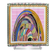 Bride In Layers Of Veils Accidental Discovery From Graphic Abstracts Made From Crystal Healing Stone Shower Curtain