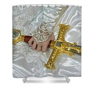 Sword In Hand Shower Curtain