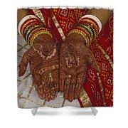 Brides Hands India Shower Curtain