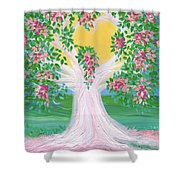 Bride's Tree Pink Shower Curtain