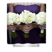 Bridesmaids With Flowers Shower Curtain