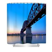 Bridge Abstract Shower Curtain