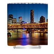 Bridge Across A River, Story Bridge Shower Curtain