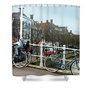 Bridge Across Canal - Amsterdam Shower Curtain