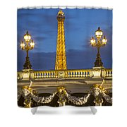 Bridge And Eiffel Shower Curtain