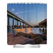Bridge And Fishing Pier Shower Curtain