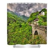 Bridge And Mountain Shower Curtain