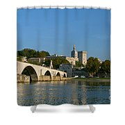 Bridge At Avignon Shower Curtain