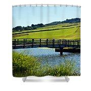 Bridge At Charmouth Shower Curtain