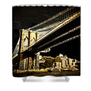 Bridge At Night Shower Curtain