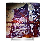 Bridge At Sunrise Shower Curtain