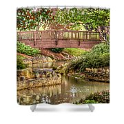 Bridge At Shelton Vineyards Shower Curtain