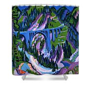 Bridge At Wiesen Shower Curtain