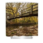 Bridge Between Seasons Shower Curtain