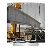 Bridge Building Bw Shower Curtain