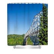 Bridge Connecting Oregon And Washington Shower Curtain