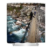 Bridge Crossing Shower Curtain by Tim Hester
