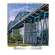 Bridge From The Park Shower Curtain