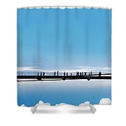 Bridge High In The Sky Shower Curtain