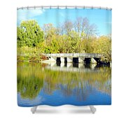 Bridge In A Park Shower Curtain