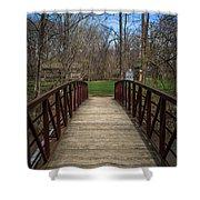 Bridge In Deep River County Park Northwest Indiana Shower Curtain