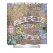 Bridge In Monet's Garden Shower Curtain