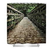 Bridge Leading Into The Bamboo Jungle Shower Curtain